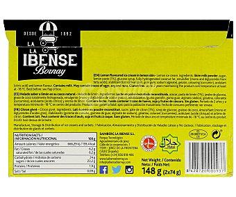 La Ibense Bornay Tarrinas Limón Helado Pack de 2x250g