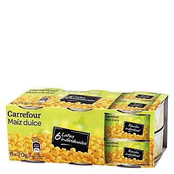 Carrefour Maíz dulce en grano Pack de 6x70 g