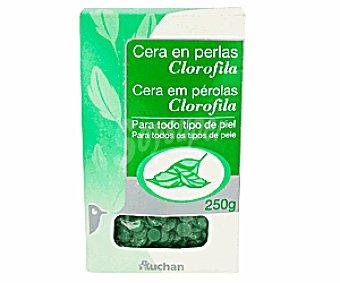 Auchan Cera Depilatoria en Perlas Clorofila 250g