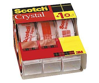 Scotch Lote de 3 cintas adhesivas transparentes de 19 milímetros y 7.5 metros, con dispensadores scotch 3u