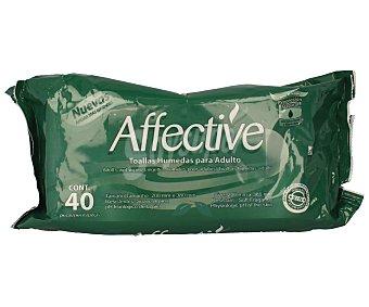 Affective Toallitas húmedas para adulto Paquete 40 unidades