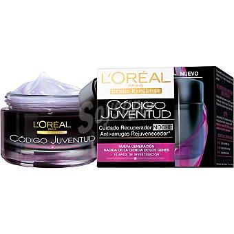 Código Juventud L'Oréal Paris Crema cuidado recuperador de noche anti-arrugas rejuvenecedor tarro 50 ml Tarro 50 ml