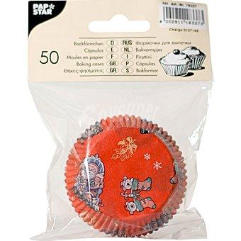PAP STAR moldes para magdalenas colores surtidos  paquete 50 unidades