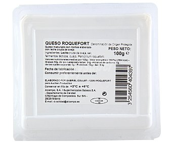 Auchan Queso roquefort 100 gramos