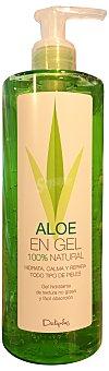 Deliplus Loción corporal aloe vera gel 100 % natural (dosificador) Botella de 375 cc