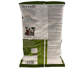 Tyrrells Verduras fritas (remolacha, nabo, zanahoria) ligeramente saladas Bolsa 150 g