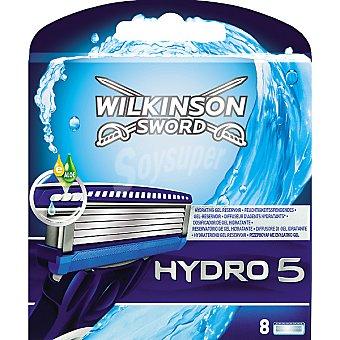 Wilkinson Recambio maquinilla de afeitar Hydro 5 estuche 8 unidades
