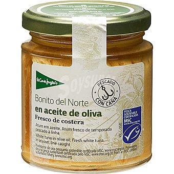 El Corte Inglés Bonito del norte en aceite de oliva  frasco 160 g neto escurrido
