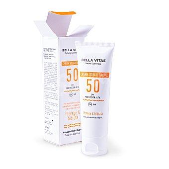 Bellavita Crema solar facial 99% ingredientes naturales spf50 Tubo 50 ml