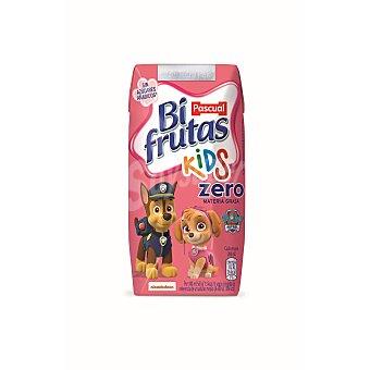 PASCUAL BI FRUTAS Fresa y platano zumo de fruta con leche y vitaminas pack 6 envases 200 ml
