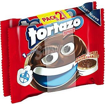 Bimbo Gran torta multicereales cubierta de chocolate Tortazo Pack 2 unidades 30 g
