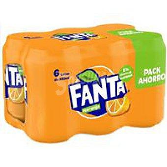 Fanta Refresco de naranja Pack 5+1x33 cl