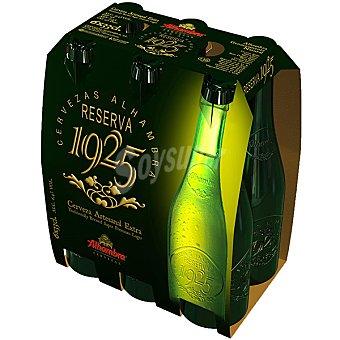 Alhambra Cerveza rubia nacional Reserva 1925 pack 6 botellas de 33 cl