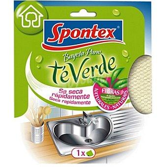 Spontex Bayeta microfibras té verde seca rápidamente Envase 1 unidad