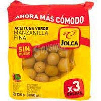 Jolca Aceitunas sin hueso Pack 3 x 50 g