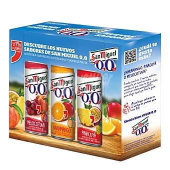 San Miguel 0,0% Cervezas de sabores Pack 3x33 cl