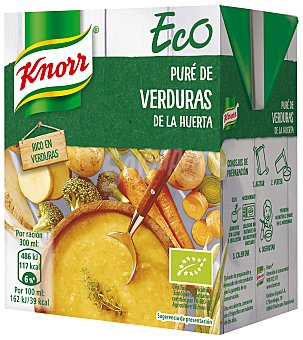 Knorr Crema verduras de la huerta ecológica 300 ml