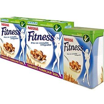 Fitness Nestlé Cereales de desayuno pack 2 paquete 500 g + una lata decorada de regalo Pack 2 paquete 500 g