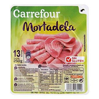 Carrefour Mortadela en lonchas - Sin Gluten 250 g