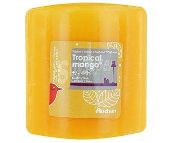 Auchan Vela cilíndrica perfumada de 80x80 milímetros y con olor a perfume tropical 1 Unidad