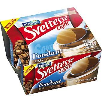 Sveltesse Nestlé Yogur delicias fondant de café light Pack 4 unidades 125 g