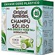 Champú sólido hidratante agua de Coco y Aloe Vera para cabello normal Pastilla 60 g Original Remedies Garnier