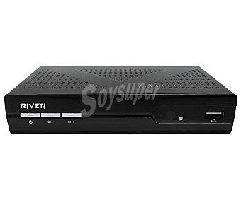 RIVEN 9902 Sintonizador TDT micro Conexión Euroconector, USB reproductor y grabador