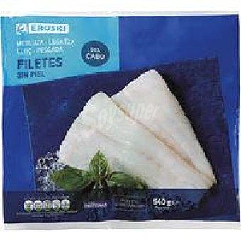 Eroski Filete de merluza sin piel Bolsa 540 g