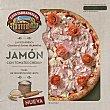 Pizza de jamón con tomates cherry Envase 400 g Casa Tarradellas