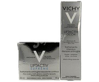 Vichy Crema antiarrugas 50 mililitros + contorno de ojos 15 mililitros 50 mililitros