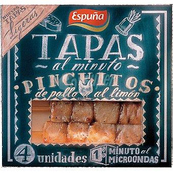 Espuña Pinchitos de pollo al limón Envase 80 g (4 unidades)
