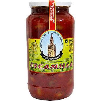 Escamilla aceitunas gordal morada con mojo canario  envase 570 g neto escurrido