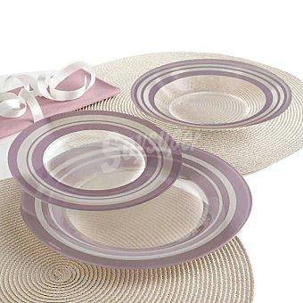 LUMINARC Loop Vajilla de vidrio 18 piezas para 6 servicios en color morado