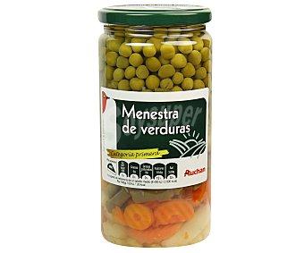 Auchan Macedonia de Verduras al Natural Frasco 400 Gramos