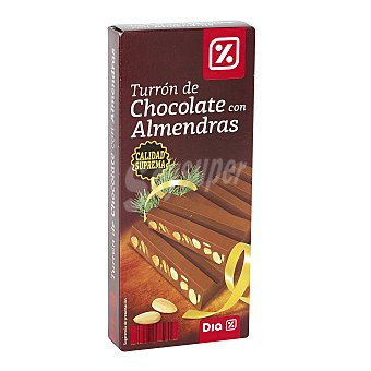 DIA Turrón de chocolate con almendras Estuche 300 gr