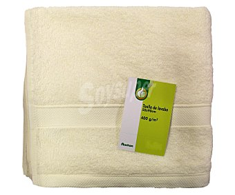 PRODUCTO ECONÓMICO ALCAMPO Toalla de lavabo 100% algodón, 400g/m², color crema, 50x90 centímetros 1 Unidad