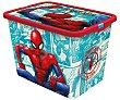 Caja infantil para ordenación con diseño de Spiderman y tapa cierre click, 7 litros, disney. 7 litros Spiderman Marvel