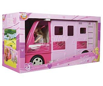 ONE TWO FUN ALCAMPO Caravana desplegable con muñeca incluida alcampo