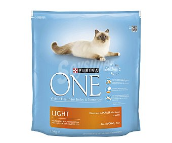 ONE GATOS Alimento para Gatos Pollo Light 1,5 Kilogramos