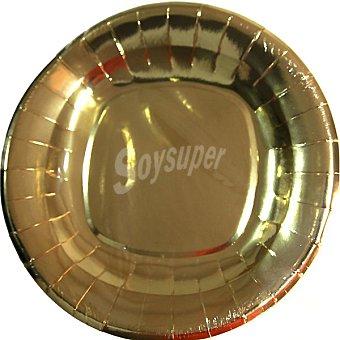 NV CORPORACION Plato Royal Gold redondo 28 cm Paquete 4 unidades
