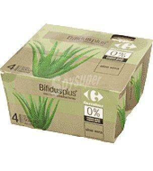 Carrefour Bifidus Aloe Vera 0% Pack de 4x125 g
