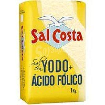 Sal Costa Sal marina con yodo-ácido fólico Paquete 1 kg