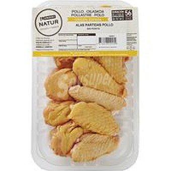 Eroski Natur Alas de pollo partidas sin punta Eroski 450 g