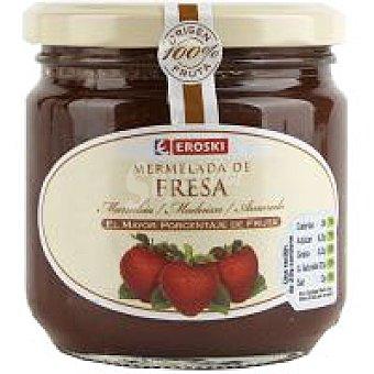 Eroski Mermelada de fresa 100% fruta Tarro 300 g