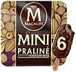 Mini bombón helado de praliné con chocolate belga Caja 6 u x 55 ml (330 ml) Magnum Frigo