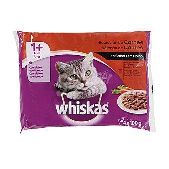 Whiskas Recetas tradicionales para gato en salsa selección de carnes Pack 4 bolsa 100 g