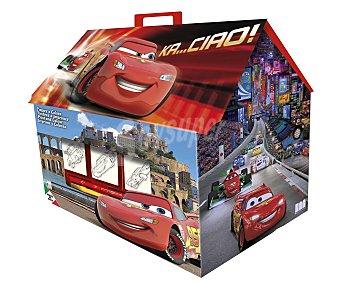 Disney Bonito maletín con los dibujos de tus personajes favoritos de las películas Cars, que incluye 7 sellos, 1 almohadilla de tinta, 3 marcadores lavables con agua y 1 libro 1 unidad