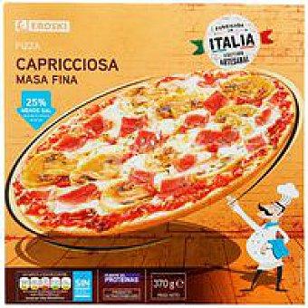 Eroski Pizza masa fina Capricciosa Caja 370 g
