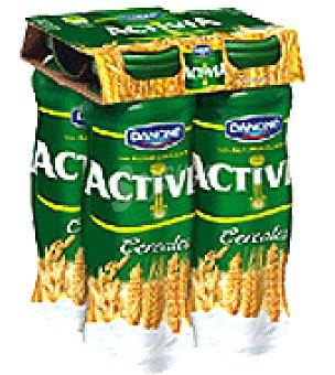 Activia Danone Yogur líquido con cereales Pack de 4x160 g
