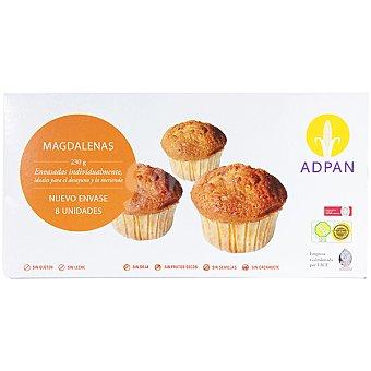 Adpan Magdalenas sin gluten y sin lactosa Envase 230 g